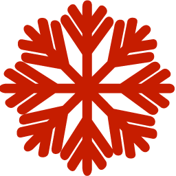 red snowflake icon 44151